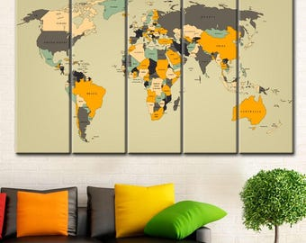 Canvas World map, Canvas map of the world, World Map Canvas, Large world map art, World map canvas art wall, World map canvas art wall, Art