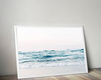 Ocean print, ocean wall art, ocean photography, water print, ocean waves print, coastal print, blue wall art, sea print, ocean poster, beach