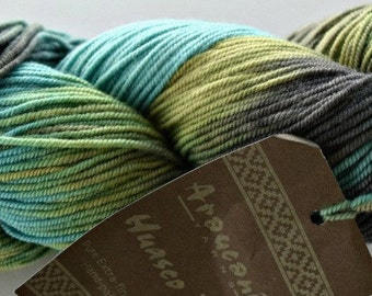 Huasco DK in #10- Multi Greens merino wool yarn by Araucania