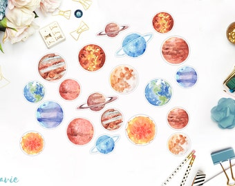 Planet stickers, 20 pcs