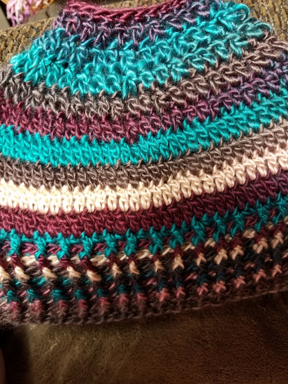 Messy Bun Hat - Multi-Color