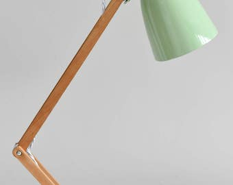 Gorgeous Green vintage Maclamp  designed by English designer Sir Terence Conran during the 1960's