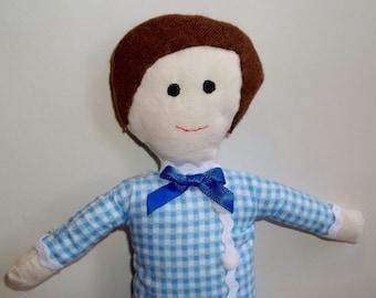 Gift for Boy, Cloth doll Rory, Rag Doll, Soft doll, Birthday gift,  Gift for friend, Fabric doll, Soft toy, Fabric doll, Handmade doll, Doll