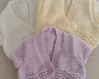 Hand knitted girls bolero top