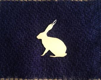Brass hare pendant