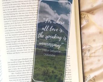 Outlander Diana Gabaldon Quote Bookmark