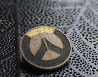Overwatch Logo Gold Laser Engraved Pin