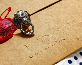 Lapel pin Lion in Silver by Mr White