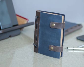 Leather journal Leather bound journal - Free  personalization laser engraving and hand stamp