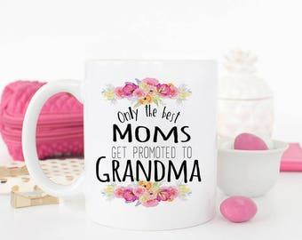 New Grandparent Promotion Gift, Pregnancy Reveal to Grandma, Baby announcement, Grandma mug, Grandma Promoted mug, AAA_003