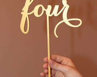 Table Numbers - Freestanding – Table Numbers for Wedding - Gold Table Numbers - Freestanding with base - Wedding Table Number