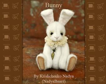 PDF Pattern Bunny 12 cm by Krishchenko Nadya Artist Teddy Bear Pattern Artist Teddy Bunny Pattern