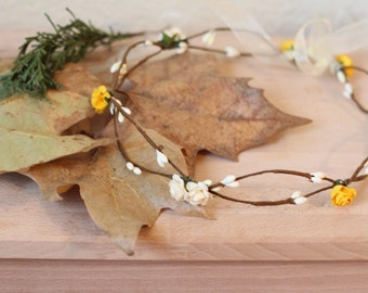 Crown of flowers, flowers tiara, headband flower, Crown elven, tiara elven, played fantasy, medieval fantasy, pagan party Crown