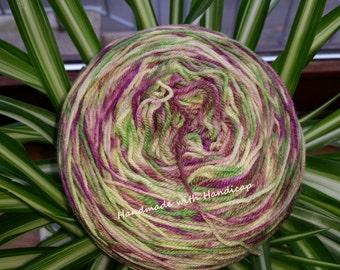 Hand-dyed wool, socks,