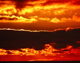 Fire SkieS in Canvas Print