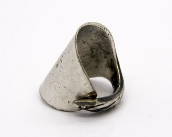 Spoon Thumb Ring - Size 4.5 - Hand Bent By The CrafsMan - Steady Craftin'