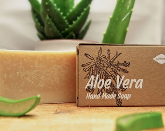 Aloe Vera Soap,aloe soap,vegan soap,bar soap,gold process soap,unscented soap,all natural soap,homemade soap,gift for all,organic soap