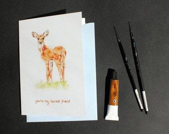 Friendship/Love Greetings Card - Dearest Friend - English