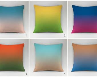Gradient pillow cover / 2017 fashion colors gradient pillow case Cushion case Decorative pillow Throw pillow cover / multicolor pillow set