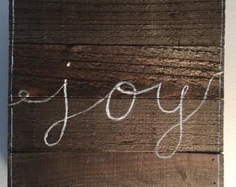 Joy Wood Decal