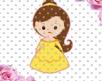 Princess SVG, cute svg, Cute princess, scrapbook svg, Princess birthday svg,