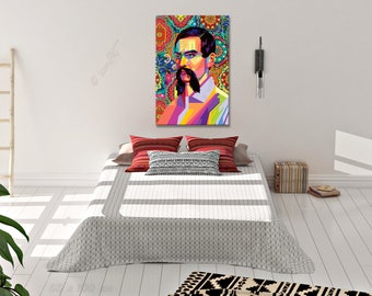 Wall ART In Memory Of Richard Burton and The Arabian Nights - personalized gift - art print - pop art - print - home - canvas - gift