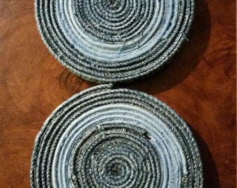 Denim Coasters, Set of 2