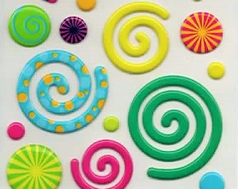 Swirly Gigs Sticko Scrapbook Stickers Embellishments Cardmaking Crafts