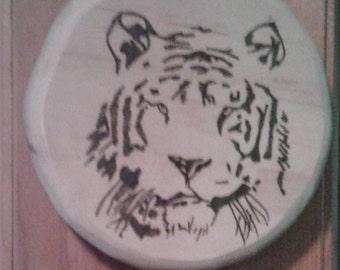 Tiger Woodburning