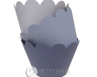 Cupcake Wrappers Trio - Shades of Lilac. Decorate your Finished Cupcakes - Pack of 12 Wrappers
