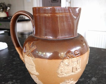 Doulton Lambeth harvest / hunting jug from 1800s