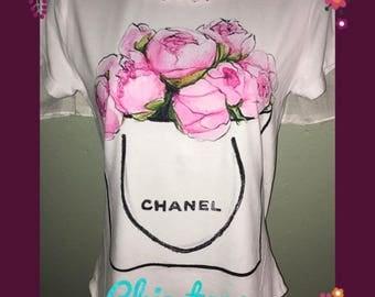 SALE! Peony flowers bouquet fashion t-shirt