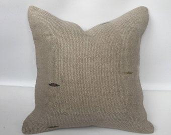 "Turkish kilim pillow,kilim cushion,hemp pillow, kilim pillow, ,20""x20""inch pillows,handmade pillow, home decor,boho pillow"