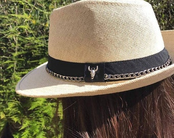 Fedora Hat, Panama  straw Hat, Off white Straw Hat, Women's Hat, Beach Hat, Sun Hat, Summer Hat, Cool hat, Panama Hat, Festival Hat