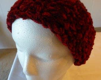 Crochet Burgundy Ear Warmer