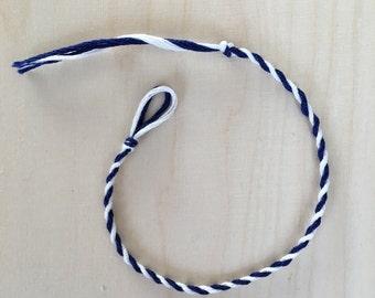 Friendship Bracelet / Blue and White