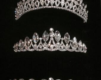 wedding tiara hair piece, bride headpiece crown