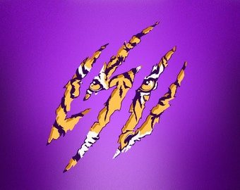 Louisiana tiger SVG Clipart Cut Files Silhouette Cameo Svg for Cricut and Vinyl File cutting Digital cuts file DXF Png Pdf Eps