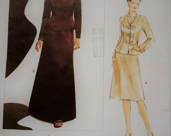 Vogue American Designer sewing pattern 2764 - Oscar de la Renta Misses' jacket and skirt -size 6-8-10