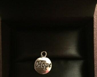 Hope Charm Pendant 2 Pcs