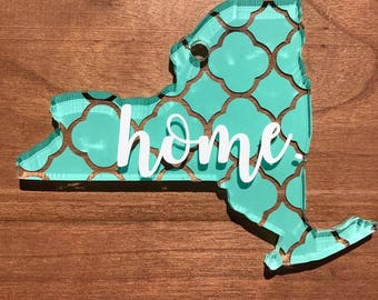 "Acrylic New York ""Home"" Keychain"