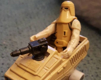 1983 Starwars Snow trooper storm trooper and vehicle