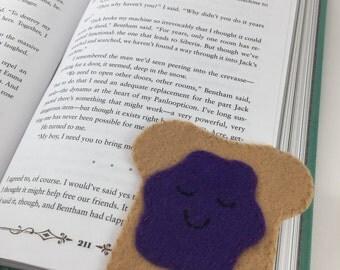 Grape Jelly Toast Corner Bookmark
