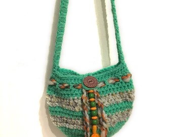 Crocheted bag, crochet shoulder bag