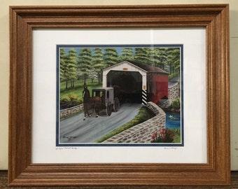 Belmont Bridge, PA Oil Painting Print