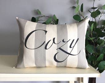Cozy Pillow, Decorative Pillow, Rustic Home Decor, Accent Pillow