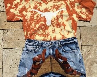 Texas Longhorns Acid Wash Tee