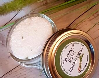 Relaxing Lemongrass Bath Salts, Dead Sea Salt, Bath Soak, Lemongrass Bath Salts, Foot Soak, All natural, Aromatherapy Bath Salts