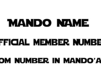 Personalized Mando Name Decal