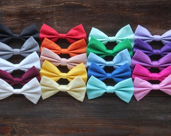 BellaQBoutique Solid Color Fabric Baby Hair Bows